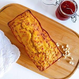 Receita saudável de bolo de grão-de-bico e batata doce