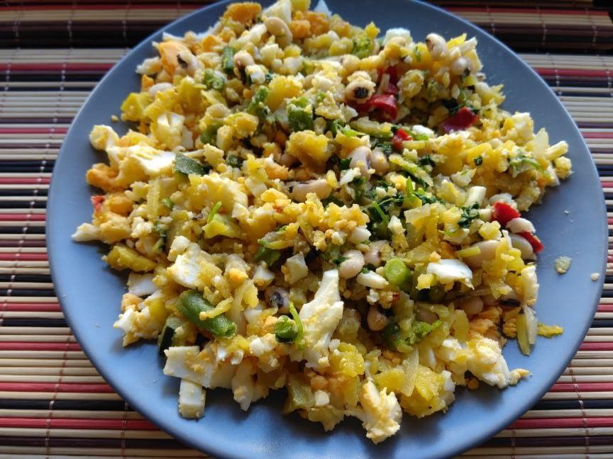 Receita saudável salada de ovo