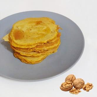 Panqueca noz canela e mel receita saudável sem açúcar
