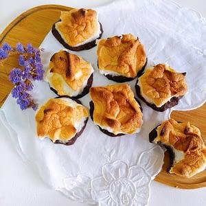 Receita saudável de biscoitos de alfarroba e aveia com merengue
