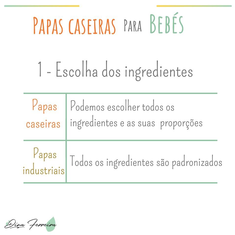 Ingredientes saudáveis papas caseiras